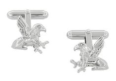 Griffin (Gryphon) Cufflinks in Sterling Silver