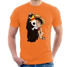 Shop Monkey D Luffy Flag One Piece Men's T-Shirt by PsychoDelicia. Available on a range of apparel with international shipping. Monkey D Luffy, One Piece Man, Tee Shirt Homme, T Shirt Diy, Mens Tees, Cotton Tee, Cool T Shirts, Cloud City, Shirt Designs