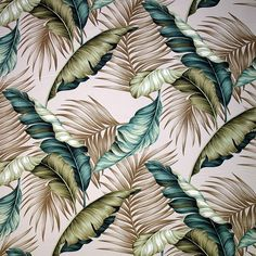 Bahama Breeze Barkcloth - This is where it began folks! Bahama Breeze, Tropical Fabric, Tropical Pattern, Tropical Shower Curtains, Elephant Tapestry, Print Ideas, Fabulous Fabrics, Barbers, Display