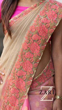 ZARI by Anju Shankar is a Chennai based online store provieds Latest Sarees, Designer Sarees, Fancy sarees an online Shopping. Lehenga Saree, Saree Dress, Chiffon Saree, Anarkali, Sabyasachi, Fashion Designer, Indian Designer Wear, Indian Attire, Indian Wear