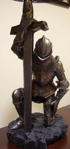 """The Kneeling Knight Errant    """"I only do what I see the Father doing..."""""""