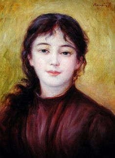 Portrait of a Woman, by Pierre Auguste Renoir http://www.artfinder.com/work/portrait-of-a-woman-pierre-auguste-renoir/