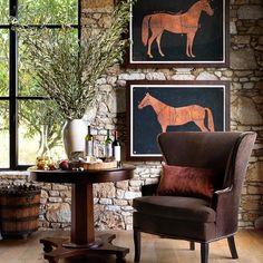 Perfect table for the wine room Milton Table Decor Interior Design, Interior Decorating, Interior Ideas, Living Room Furniture, Home Furniture, Wall Art Decor, Room Decor, Wall Decorations, Equestrian Decor