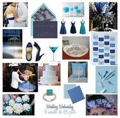 Navy, turquoise Blue Wedding Inspiration Board by finestationery, via Flickr