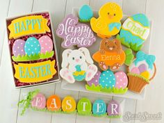 Decorated Easter Cookies by Semi Sweet Designs