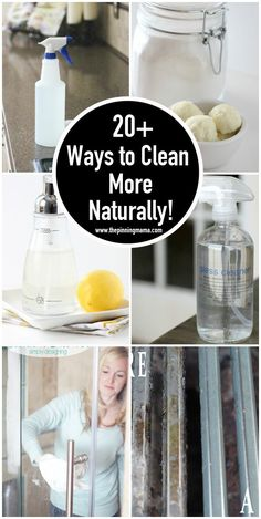20+ ways to get rid of chemicals in your home and clean more naturally! via thepinningmama.com