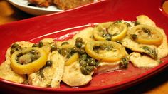 Chicken Piccata with capers & lemon
