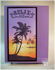 It's the second day of hopping for the latest Gina K Designs release. Today we are featuring a new stamp set from Beth Salaika, c. Stamp Tv, Beach Cards, Hawaiian Theme, Summer Design, I Card, Card Making, Elephant, Tropical, Cool Stuff