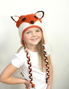 FOX Hat for Girls Boys Babies Toddlers Teens Women by 2mice, $33.00