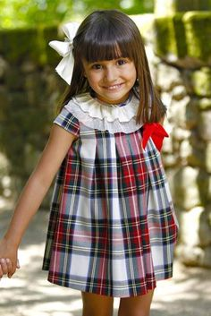For fall . Little Girl Dresses, Girls Dresses, Tartan Fashion, Diy Bebe, Inspiration Mode, My Baby Girl, Kind Mode, Baby Dress, Boy Outfits