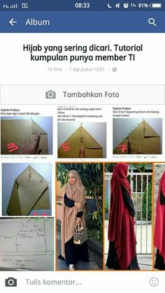 Pola jahit Muslim Fashion, Hijab Fashion, Women's Fashion, Kaftan Pattern, Instant Hijab, Dress Pesta, Hijab Collection, Modele Hijab, Hijab Cartoon