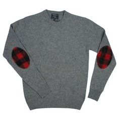 plaid elbow patch sweater