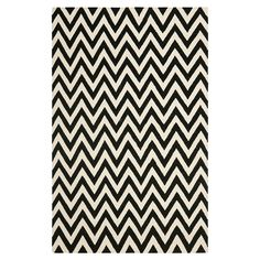 Monochrome chevron rug