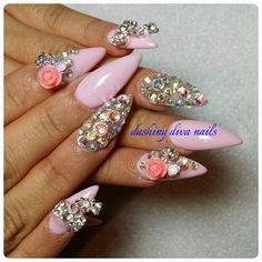 gelish, 3d, blings by nailsbythuypham from Nail Art Gallery