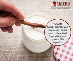 Lower Cholesterol, Immune System, Yogurt, Bones, Health Care, Food, Essen, Meals, Yemek