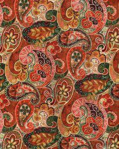 Autumn Paisley Pattern via Calsidyrose