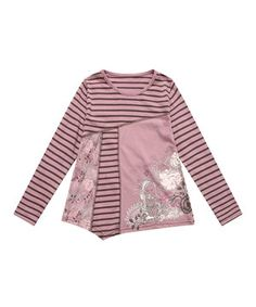 Another great find on #zulily! Pink Stripe Patchwork Tee - Toddler & Girls by Richie House #zulilyfinds