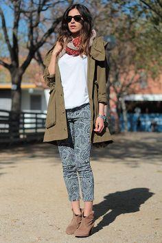 Shop this look on Kaleidoscope (parka, jeans, bootie)  http://kalei.do/WlUYVDMEf4xlDcJc