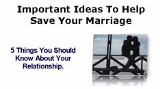 Marriage Counseling - Advice On How To Save Your Marriage & Fix Your Relationship - YouTube