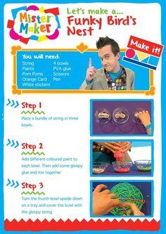 Mister Maker ROBOT MASKS MINI CRAFT KIT Child//Toddler Art//Play Set Cbeebies