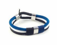 Items similar to Cruise Nautical Anchor Bracelet / Beach Bracelet / We love the Ocean / Sailor Bracelet / Sea Jewelry / Paracord Bracelet / Best couple gift on Etsy Marine Rope, 10 Days, Paracord, Handmade Bracelets, Europe, Canada, Notes, Stainless Steel, Amp