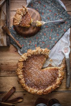 Salted Rose & Honey Pie