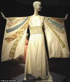 The Tiziana Kimono Taylor wore, with a very impressive headpiece, in 1968 film Boom which also starred Richard Burton and Noël Coward