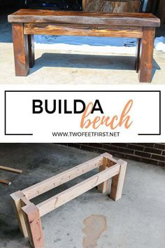 DIY Wood Bench Are you looking for a simple way to build a cheap wooden bench? Here is a DIY tutorial on how to build a wood bench using a Kreg Jig. The post DIY Wood Bench appeared first on Woodworking Diy. Easy Woodworking Projects, Popular Woodworking, Woodworking Furniture, Woodworking Shop, Woodworking Plans, Woodworking Classes, Woodworking Techniques, Woodworking Chisels, Woodworking Basics
