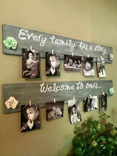 What a fun and easy way to display family pictures!