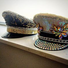 Because 2 hats are better than one! 2 custom orders out the door in 2 days! Phew! Only for you @sunnypixels !! #TheRadHatter #ineffableglitter #burningmanhat #captainhat #burnerguy #burnergirl #customhat #pridenyc #burningman #burningmanfashion #hatsofbu