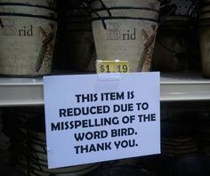 LOL! To my coworkers...you know this has happened in our store!!
