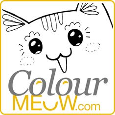 Colour Meow! Cat Colouring Pages and Cat Drawing for Adults and Kids. Cat Colouring Therapy.