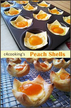 Peach Shells recipe from c4cooking .. You are sure to fall in love with these creamy shells the moment you have your first-bite :)