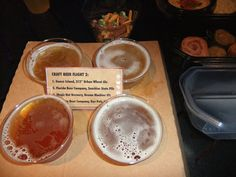 Craft Beer Flight #2 in the Odyssey building during Epcot Food & Wine 2014.