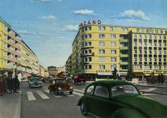 "https://flic.kr/p/v1xgMB   Germany - Braunschweig [01] - 1962 - front   Postcard from Germany / Deutschland, Lower Saxony / Niedersachsen, Braunschweig / Brunswick, featuring VW Beetle / Käfer (x3) + Transporter Mk1 (x4), MERCEDES-BENZ W120 ""Ponton"", DKW 3=6 and others"