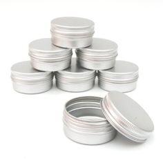 10 x 15ml Aluminium Lip Balm Pots 15ml Capacity Empty Small Mini Cosmetic/Lip Gloss/Nail Art Pots Tins Jars: Amazon.co.uk: Kitchen & Home