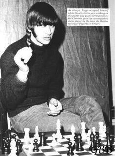 Ringo Starr with a knight in his hand Ringo Starr, Beatles Photos, The Beatles, Chess Puzzles, Board Game Pieces, Richard Starkey, Chess Players, Religion, People