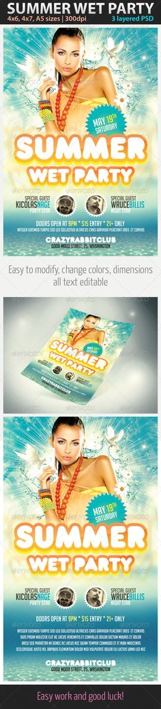 Spring - Flyer Template Flyer template and Vip card - spring flyer template