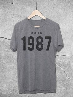 30th Birthday Ideas For Men -   1987 Tee - 30th birthday Gift Ideas For Women | Original 1987 Vintage T-Shirt – Hello Floyd