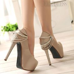 Fabulous Platform Stiletto Heels with Rhinestone & Chains Prom Shoes Prom Shoes- ericdress.com 10852388