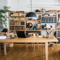 【店舗限定】オーク無垢材ダイニングテーブル・長方形1 Interior Work, Room Interior Design, Estilo Muji, Muji Furniture, Ivar Regal, Muji Style, Muji Home, Home Office Decor, Home Decor