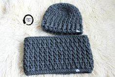 Crochet Hat And Scarf Set Neck Warmer 69 Ideas Knitting Socks, Baby Knitting, Knitted Hats, Crochet Hats, Chunky Crochet, Irish Crochet, Easy Crochet, Crochet Hat For Women, Crochet For Boys