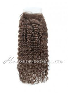 """#4 Lace Closure Indian Remy Hair 4X4"""" Water Wave [CI16]"""