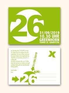 Einladungskarten - Geburtstagseinladung 01 - ein Designerstück von Liebesdienst bei DaWanda
