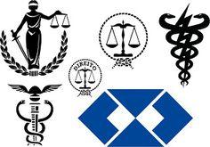 símbolo profissões formatura, símbolo direito, simbolo medicina, simbolo letras…