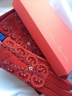 """Купить Перчатки""""Кровавый Алмаз""""в стиле DG - византия, византийский стиль, византийское плетение, стильный аксессуар"""