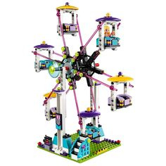 LEGO Friends Amusement Park Roller Coaster 41130 Toy for Girls and Boys -- See this great product. (This is an affiliate link) New Kids Toys, Toys For Girls, Children Toys, Model Building Kits, Building Toys, Brick Building, Attraction, Light Brick, Lego Birthday Party
