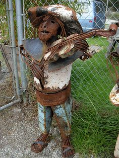 Reused for yard art! Very cool!