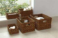Rectangular Waterhyacinth Basket