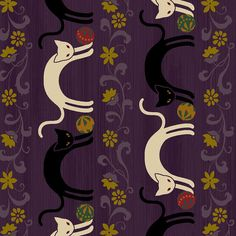 Hyakka Ryoran Neko - Cat Stripe - Purple - Feline Drive